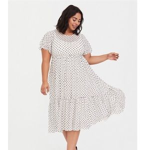 Ivory dress with hearts all over